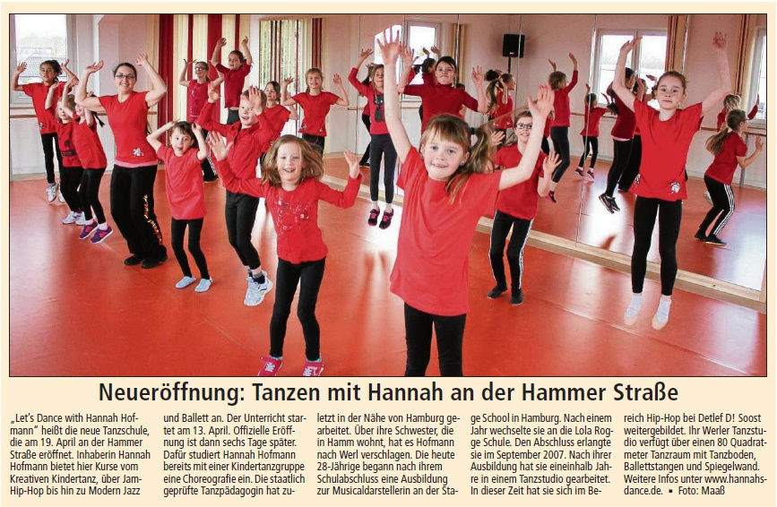 Bild: Tanzstudio Let's Dance With Hannah Hofmann: Neueröffnung 2015